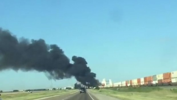 2 Trains Collide in North Texas