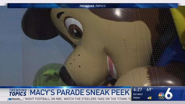 [NATL-MI] Sneak Peek at New Macy's Thanksgiving Day Parade Balloons