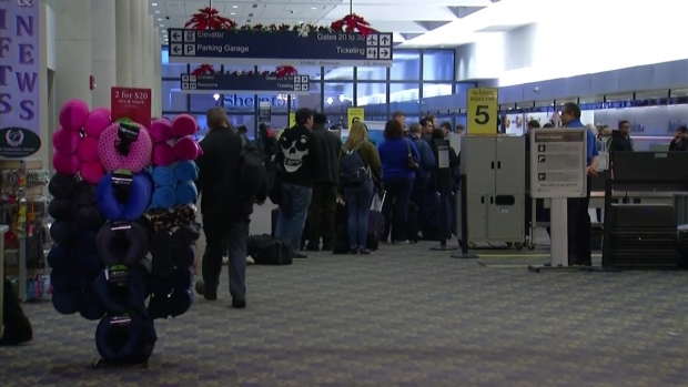 Snow Causes Cancellations at Bradley Airport