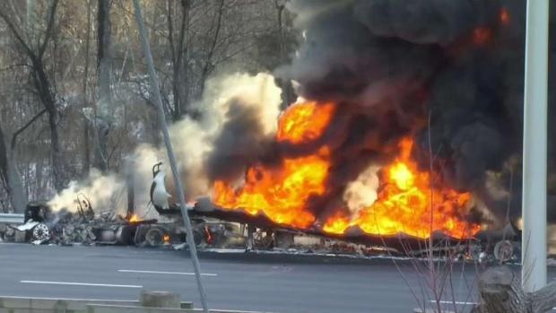 [HAR] Tanker Fire Shuts Down Highway in Rocky Hill
