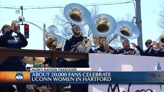 [HAR] Thousands Attend UConn Victory Parade