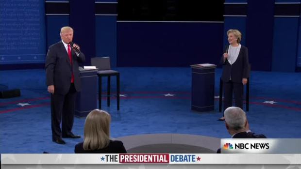 [NATL] Trump Interrupts Clinton on Email Question