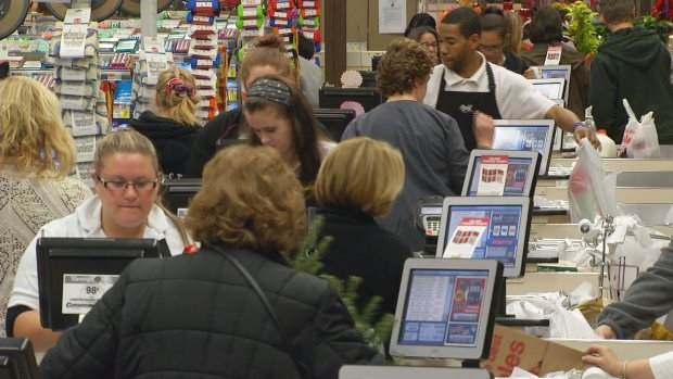 Residents Stock Up Before Storm