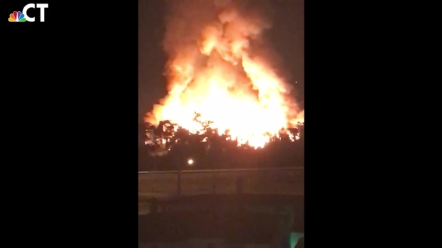 Viewer Video Shows Flames From Waterbury Fire