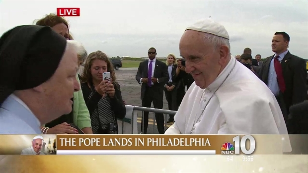 Pope Francis Stops to Give Special Blessing to Band Director's Sick Son