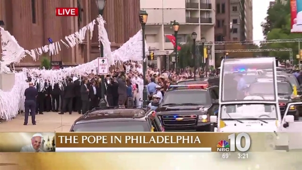 Pope Stops at Knotted Grotto