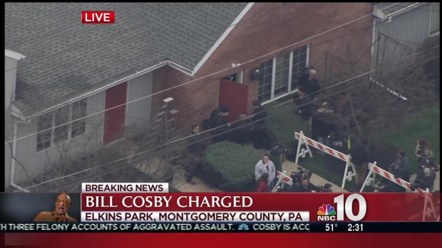 [NATL-PHI] Bill Cosby Free on $1 Million Bail After Facing Arraignment on Sex-Assault Charges