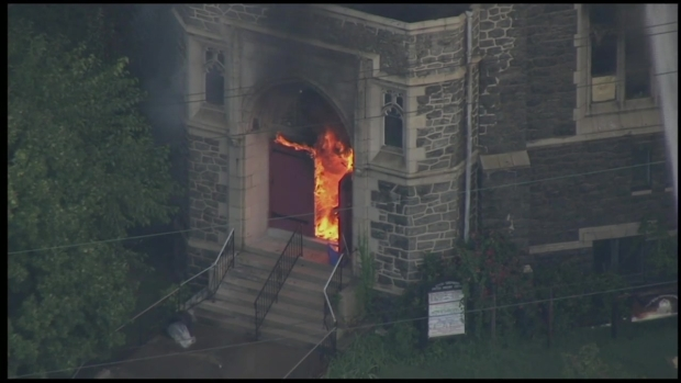 Raw Video: Flames Engulf Philly Church