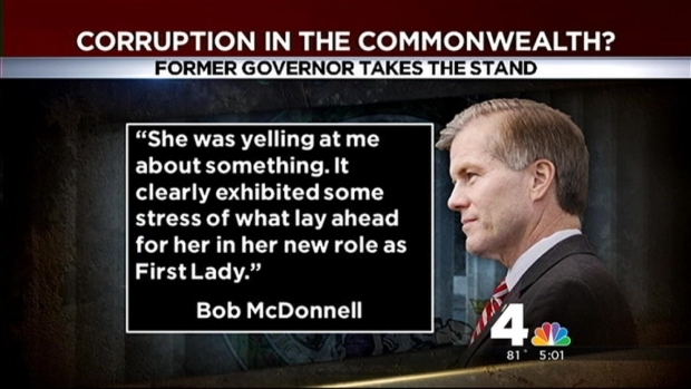 [DC] Former Gov. Bob McDonnell Takes Stand in Corruption Trial