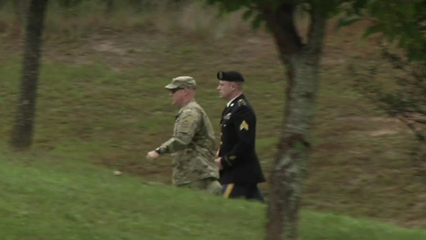 Army Sgt. Bowe Bergdahl Arrives at Fort Bragg