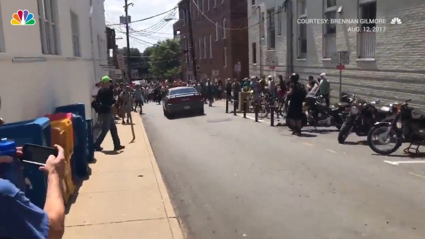 Vehicle Drives Into Counter-Protesters in Charlottesville, Virginia