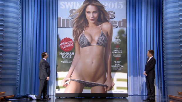 [NATL] Jimmy Fallon Unveils the 2015 Sports Illustrated Swimsuit Cover