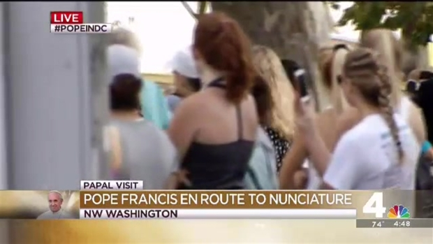 [NATL] WATCH: Pope Francis Whizzes By in Popemobile Fiat
