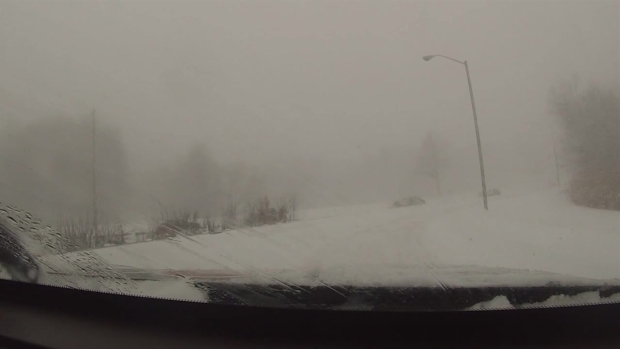 Heavy Snow Makes for Treacherous Roads