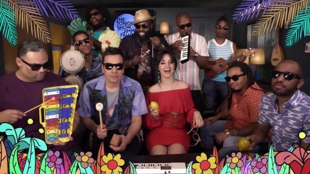 [NATL] 'Tonight': Jimmy Fallon, Camila Cabello and The Roots Sing 'Havana'