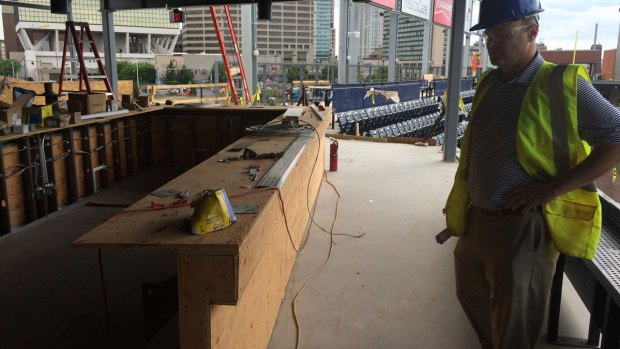 A Look at Unfinished Yard Goats Stadium