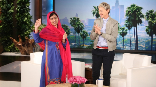 [NATL] Ellen Talks the Importance of Education, World Leadership With Malala Yousafzai