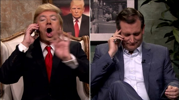 [NATL] 'Tonight Show': Jimmy Fallon's Trump Calls Ted Cruz