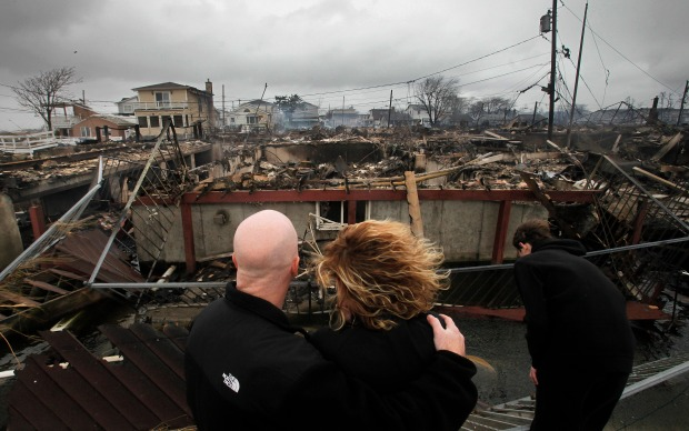 Breezy Point Burns in Floodwaters