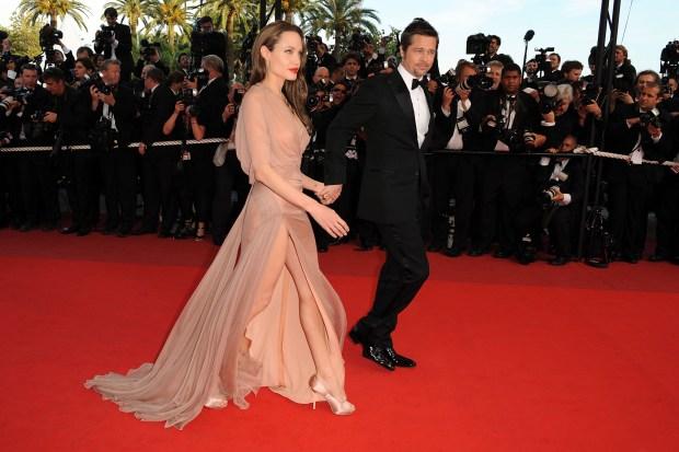 Hot Mama! Angelina Shows Lots of Leg