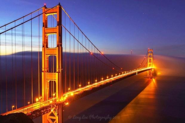 Photos of the Golden Gate Bridge via Instagram
