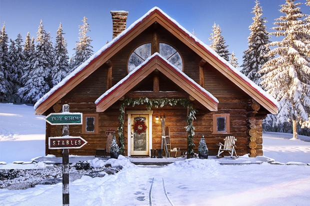 Cozy Christmas Cabin: Santa's North Pole Home Listed on Zillow