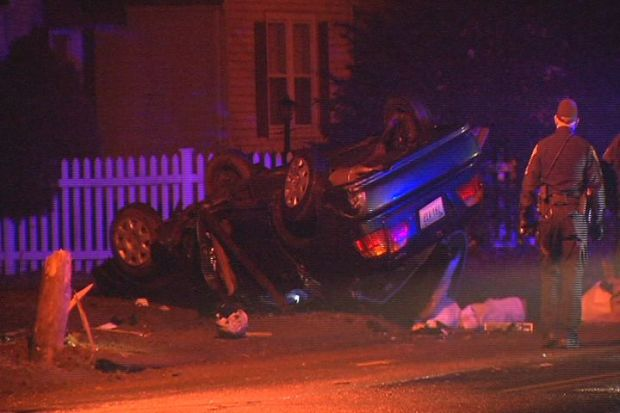 [HAR] Police Chase Ends in Crash In Plainville