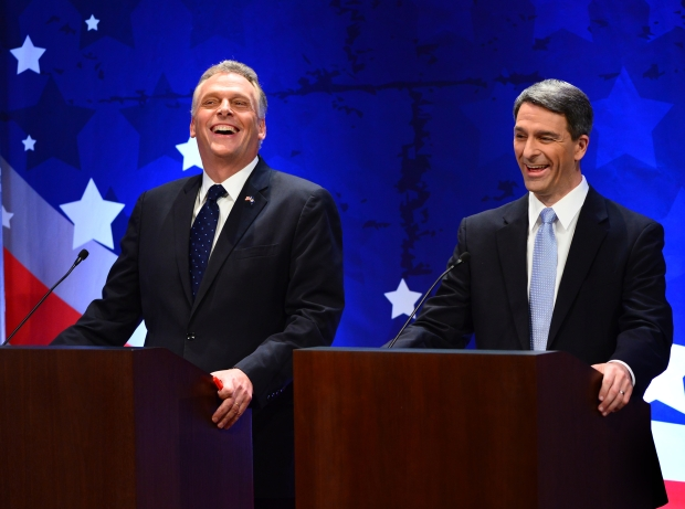 Images From the Virginia Gubernatorial Debate