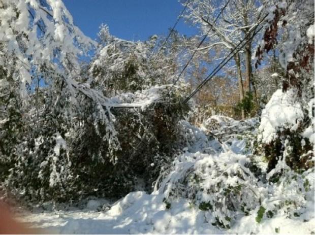 Freak October Snowstorm