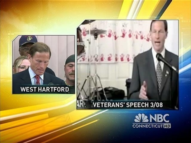 [HAR] Blumenthal Says He Has Misspoken