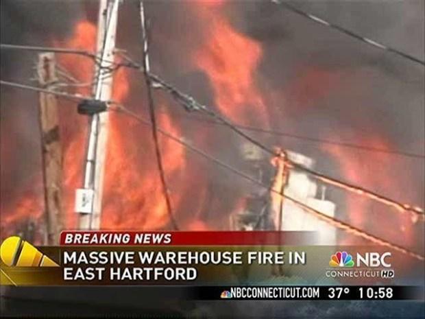 Massive Fire Destroys East Hartford Businesses