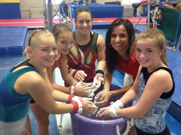 [HAR] The Fab Five Inspires Local Gymnasts