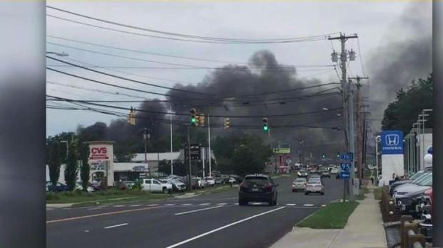 [HAR] Crews Battling Junkyard Fire in Milford