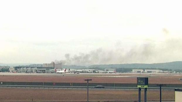 Crews Respond to Plane Crash at Bradley Airport
