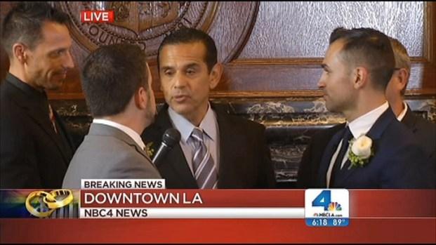 "[LA] Villaraigosa Marries Prop 8 Plaintiffs: ""Your Wait Is Finally Over"""