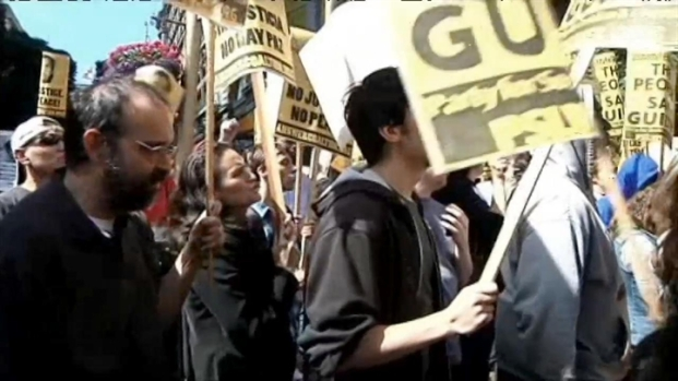[BAY] RAW VIDEO: Protesters Gather in San Francisco Following Zimmerman Verdict