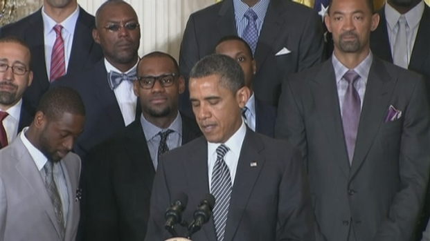 [MI] Raw Video: President Obama Honors the Miami Heat at White House