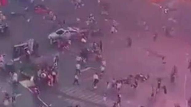 [NY] Motorcycle Backfire Panics Times Square Crowds
