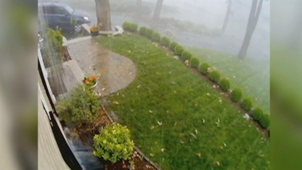[NY] RAW: Home Security Camera Captures Wild Weather in New Jersey