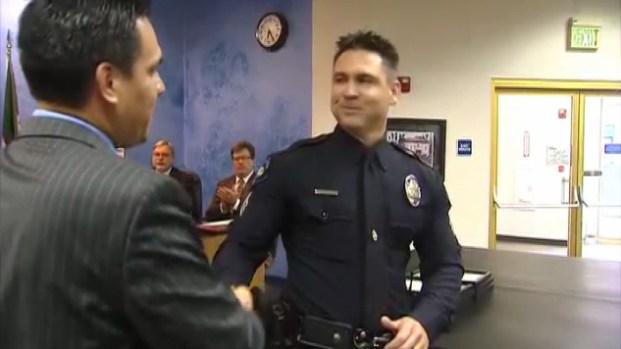 [LA] Officer Who Carried Dorner Victims Gets Mayor's Award