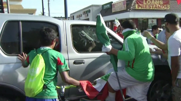World Cup Revelers Pour Into Huntington Park Streets