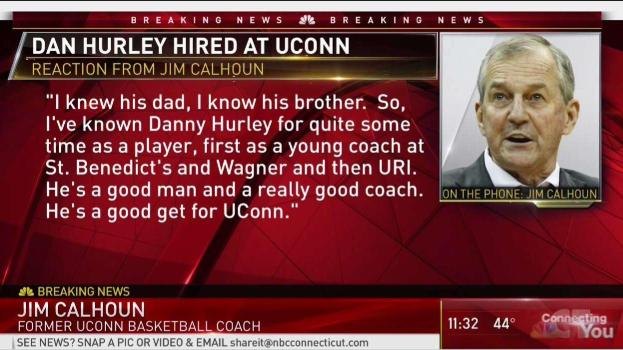Jim Calhoun Weighs In on UConn Hiring Dan Hurley