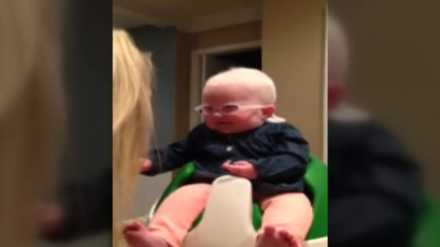 Blind Baby Sees Her Mom For First Time