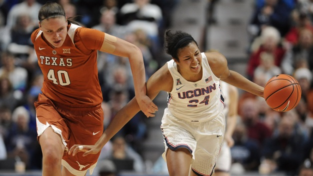 UConn Dominates Texas 72-54
