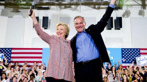 Clinton Picks Sen. Tim Kaine as Running Mate