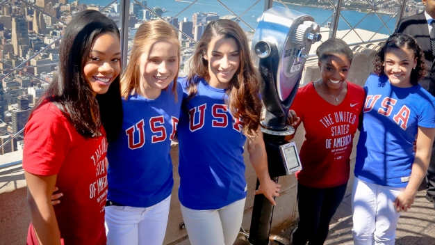 Olympic Gold-Medal 'Final Five' Visit NYC Ahead of US Tour}