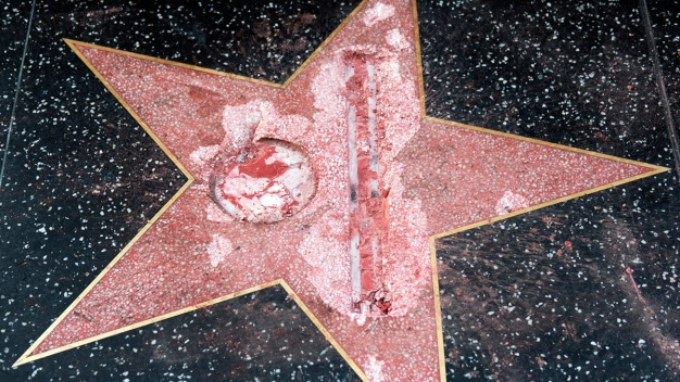 Man Who Smashed Trump Star to Pay Damages, Serve Probation