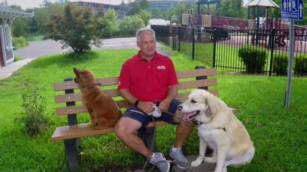 Bob Maxon Shows Off His Family's Rescue Pups