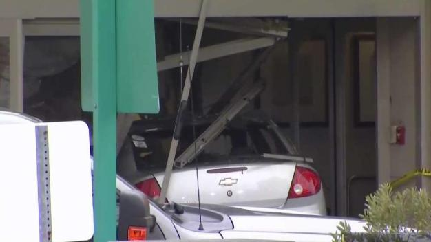 Car Crashes Into Middlesex Hospital