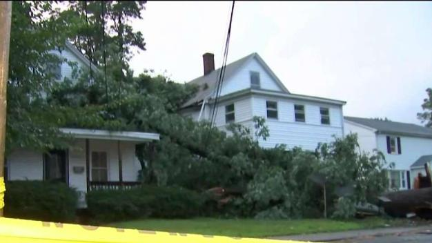 Cleanup Begins After Storms in Manchester